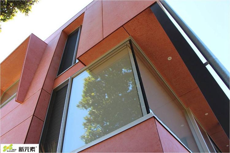 Throughcoloured fiber cement board exterior Cladding facade wall
