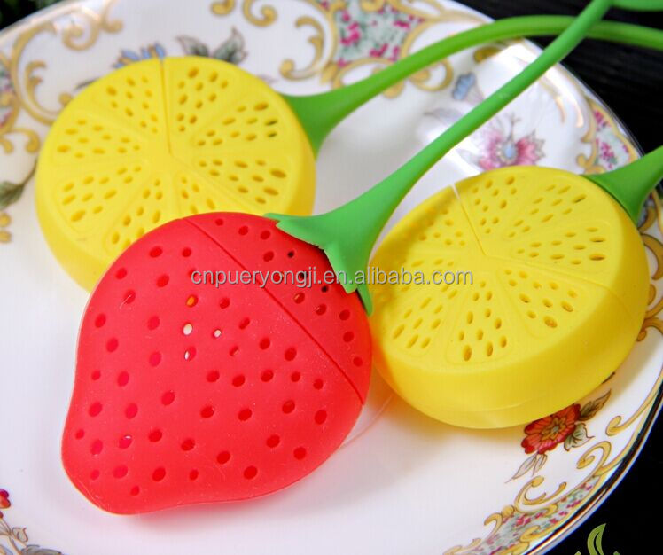 Food Grade Silicone Leaf Handle Lemon Tea Leaf Infuser For Loose Leaf Detox Tea/Weight Loss Tea/Slimming Tea
