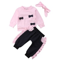 Hot sale infant toddlers clothing ruffled collar baby clothes