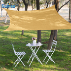3 Years Guarantee HDPE Sand Color 3.6*3.6M Sun Shade Sail in stock