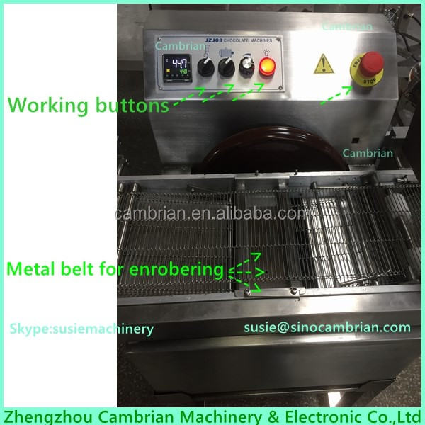 30kg hot selling cake pie chocolate enrobing machine with cooling tunnel