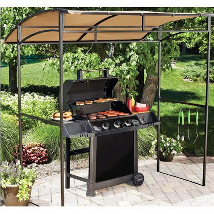 OPEN BOX - Replacement Canopy Top Cover for the Mainstays Curved Grill Shelter Gazebo - 350