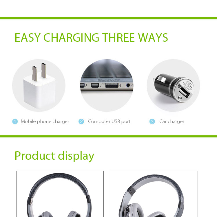 High quality V4.1 bluetooth headset ear buds stereo wireless musics bluetooth headphones