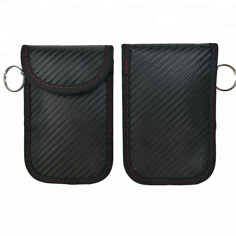 Новый дизайн карбоновый стекловолокно искусственная кожа Автомобильный ключ сигнальный Блок Чехол Faraday сумка Автозапуск Противоугонный Брелок чехол