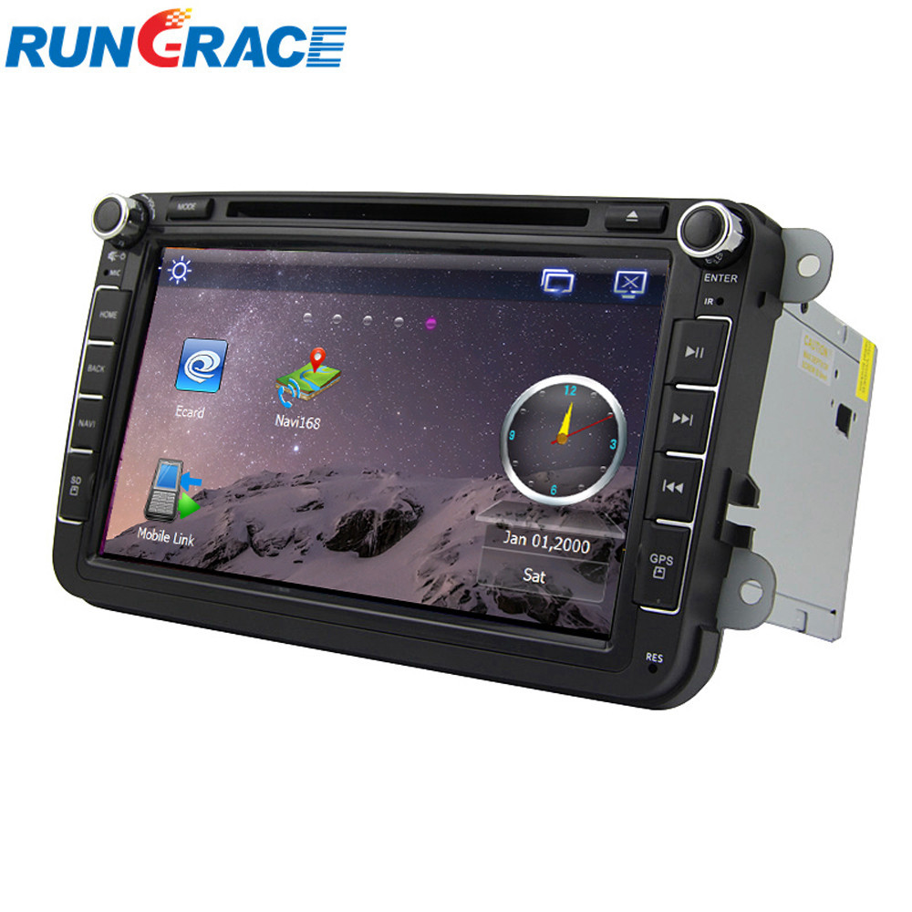 8 inch 2 din car dvd gps for skoda octavia with gps