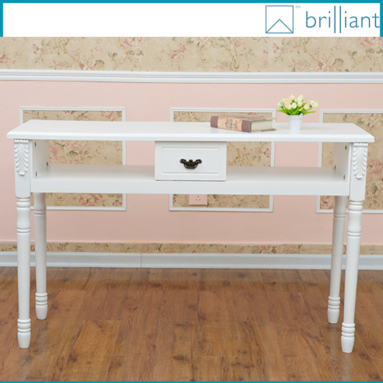 Nb130# 1.22 Meter White Wood Nail Salon Table Manicure Table 2 ...
