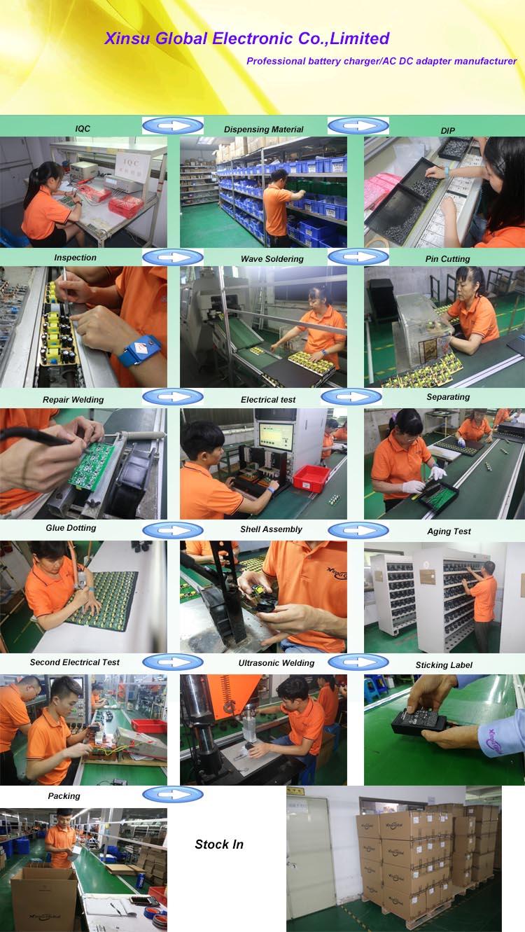 fonte de alimentação 60w ac adaptador de energia dc 24V 2A 2.5A 3A