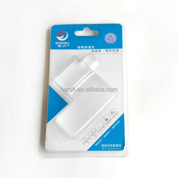 high quality transparent blister plastic clamshell box charger packaging