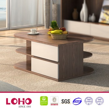 Guangzhou Furniture Simple Wooden Living Room Showcase Coffee Table