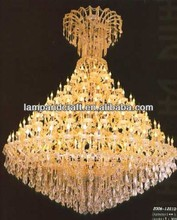 2014 lowest price CE gold crystal chandelier pendant light for five star hotel