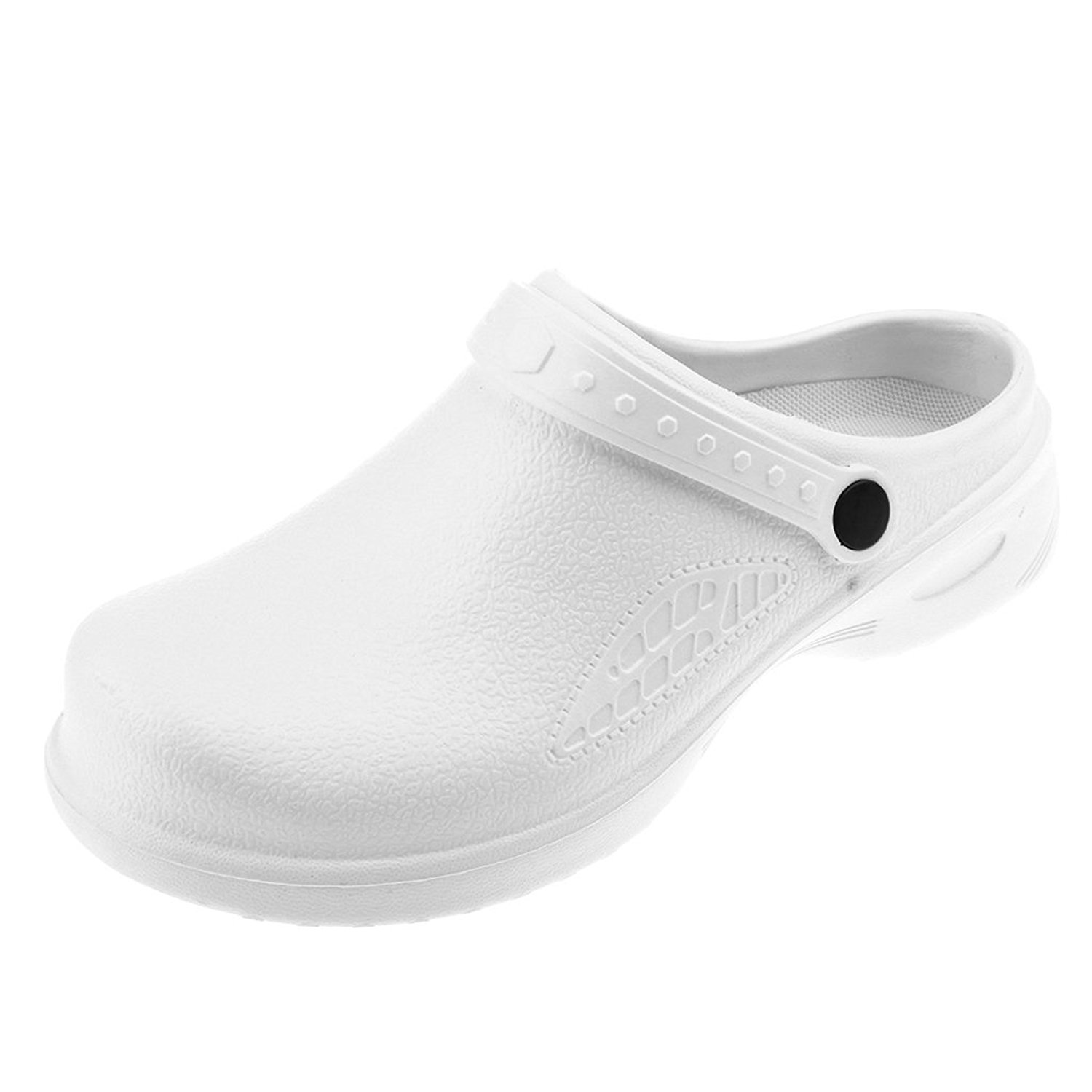 e5bc72bf77c Get Quotations · Prettyia Men Women Cook Medical Nursing Shoes Ultralite  Clogs with Strap