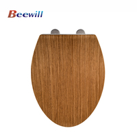 Decorative elongated sanitary dark wooden toilet seat wc