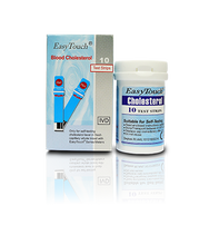 EasyTouch Glucose, Cholesterol, Uric Acid, and Hemoglobin Test Strips