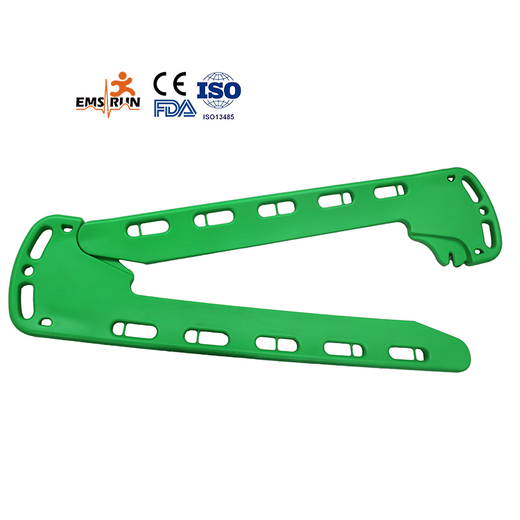First aid device carbon fiber scoop stretcher for emergency rescue
