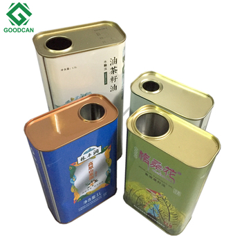 Factory price sale rectangular metal tin 500ml olive oil can