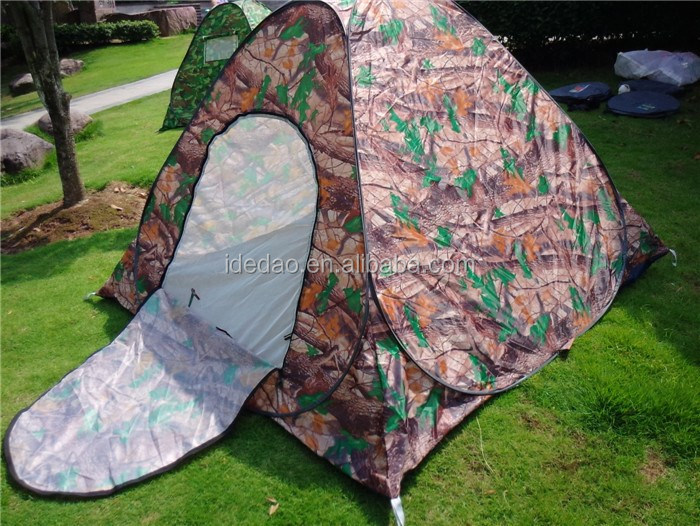 TY-Z2038 YIWU wholesale outdoor auto tent single reck Camouflage tent steel wire camp camping room tent