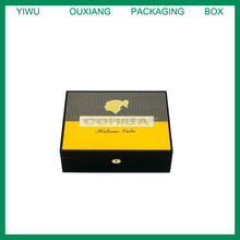 Hot Galivable Attractive Special Golden Design Piano yellow Cohiba Humidor, Luxury High Quality Packaging Box