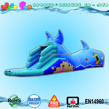 sea world themed inflatable whale tunnel obstacle course for kids sale