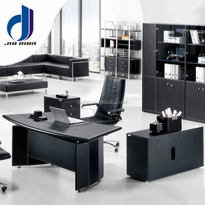 luxury executive office furniture office table made by MDF board and PU leather for office