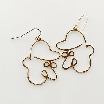 Cute Cartoon Character Shape Fashion Earrings Jewelry Wholesale Hoop