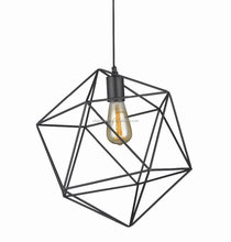 Decorative iron wire pendant light ,metal wire hanging light IP11 BK