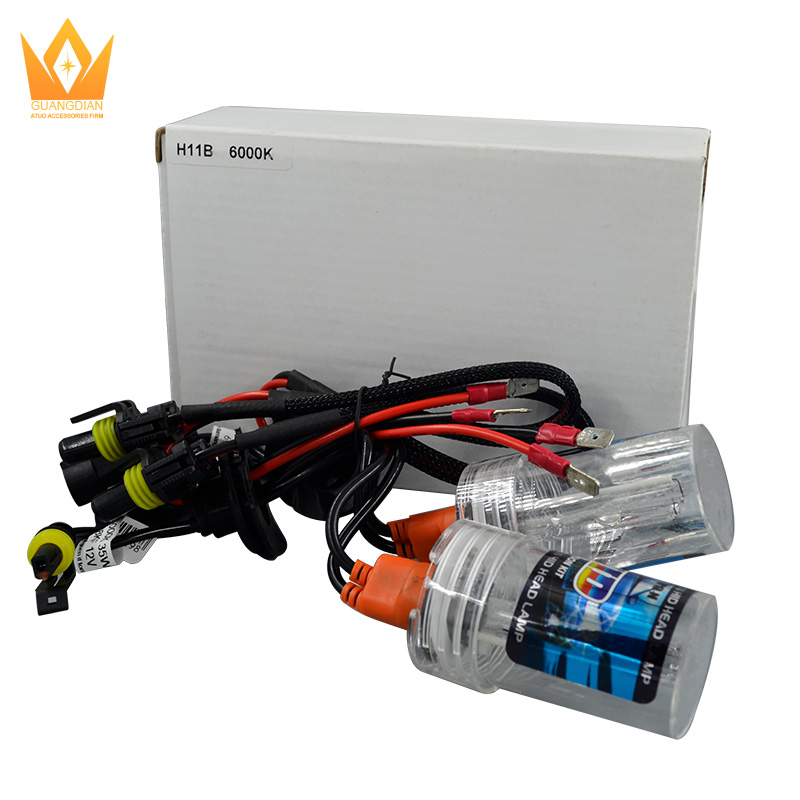 High Quality 12V 35W h11b Auto HID Xenon Headlight Bulb With Stainless Steel Base Coating, Car HID Xenon Conversion Kits