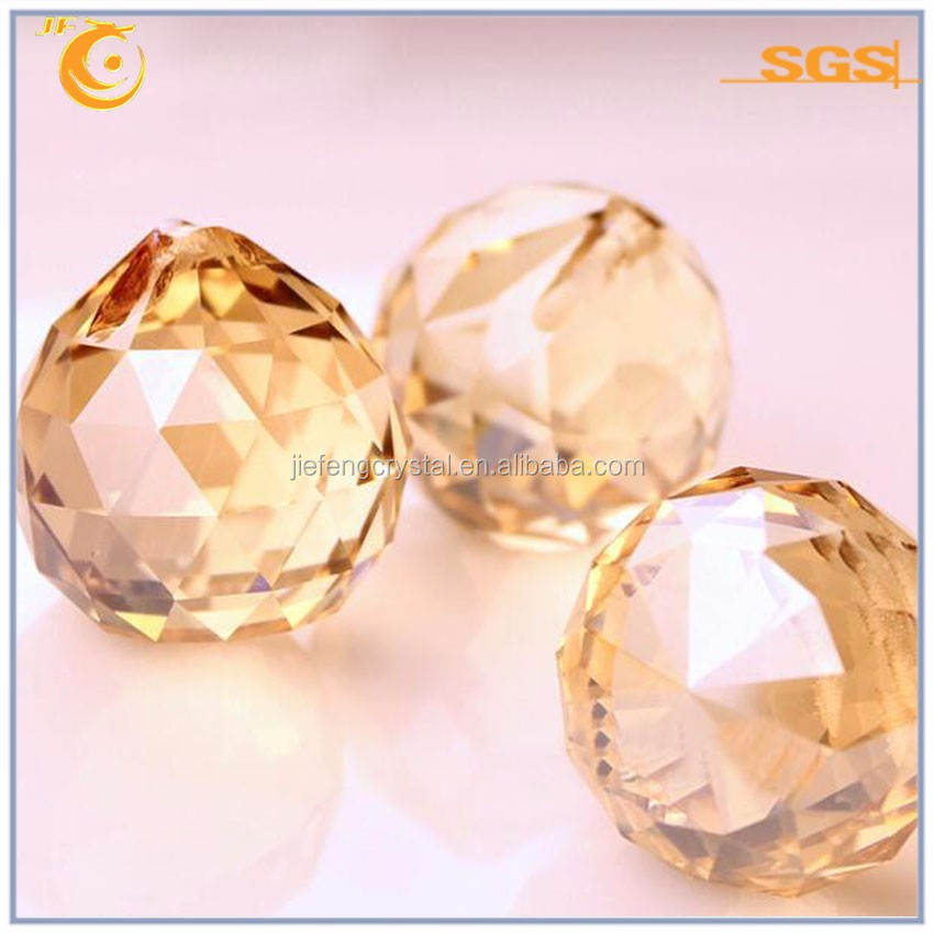 glass balls with holes crystal ball decoration 40mm