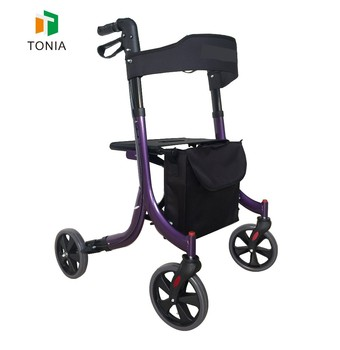 TONIA Removable Exercise Rollator Walker with Padded Seat for health walker exercises TRA11 Purple