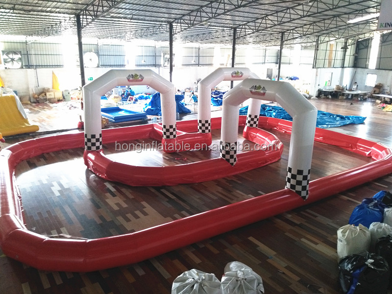 Portable Outdoor Inflatable Sport Game Zorb Ball Go Kart Inflatable Race Track