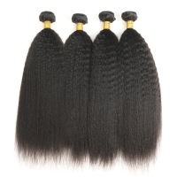 100% Virgin raw peruvian kinky straight