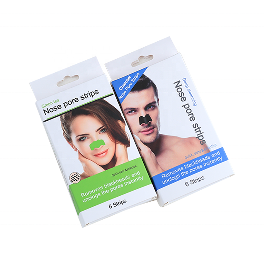 Private Label Cosmetic Removing Blackhead Nose Pore Strips Deep Cleansing  Green Tea Nose Pore Strips