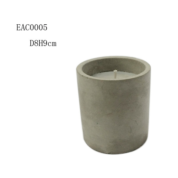 home decor cement or concrete homewares concrete candle holder/concrete candle jar