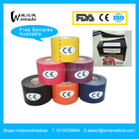 Kinesiology Sports tape and kinesiology tape strapping tape with different colors and sizes