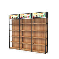 2017 new design friendly-environment wood metal store display rack shelf
