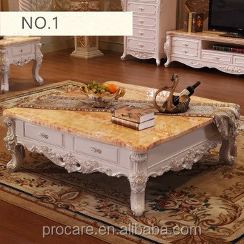 2017 New Style Modern Marble Living Room Coffee Table And Center Table