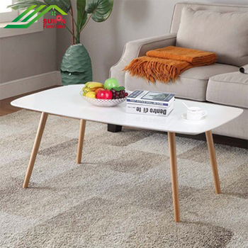 Modern White Mdf Top Three Solid Wood Legs Rectangle Shape Coffee Table For Livingroom Buy White Mdf Top Coffee Table Three Solid Wood Legs Coffee Table Rectangle Shape Coffee Table Product On Alibaba Com