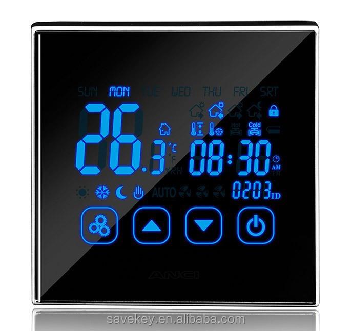 programmable de contr le de t l phone wifi thermostat d. Black Bedroom Furniture Sets. Home Design Ideas