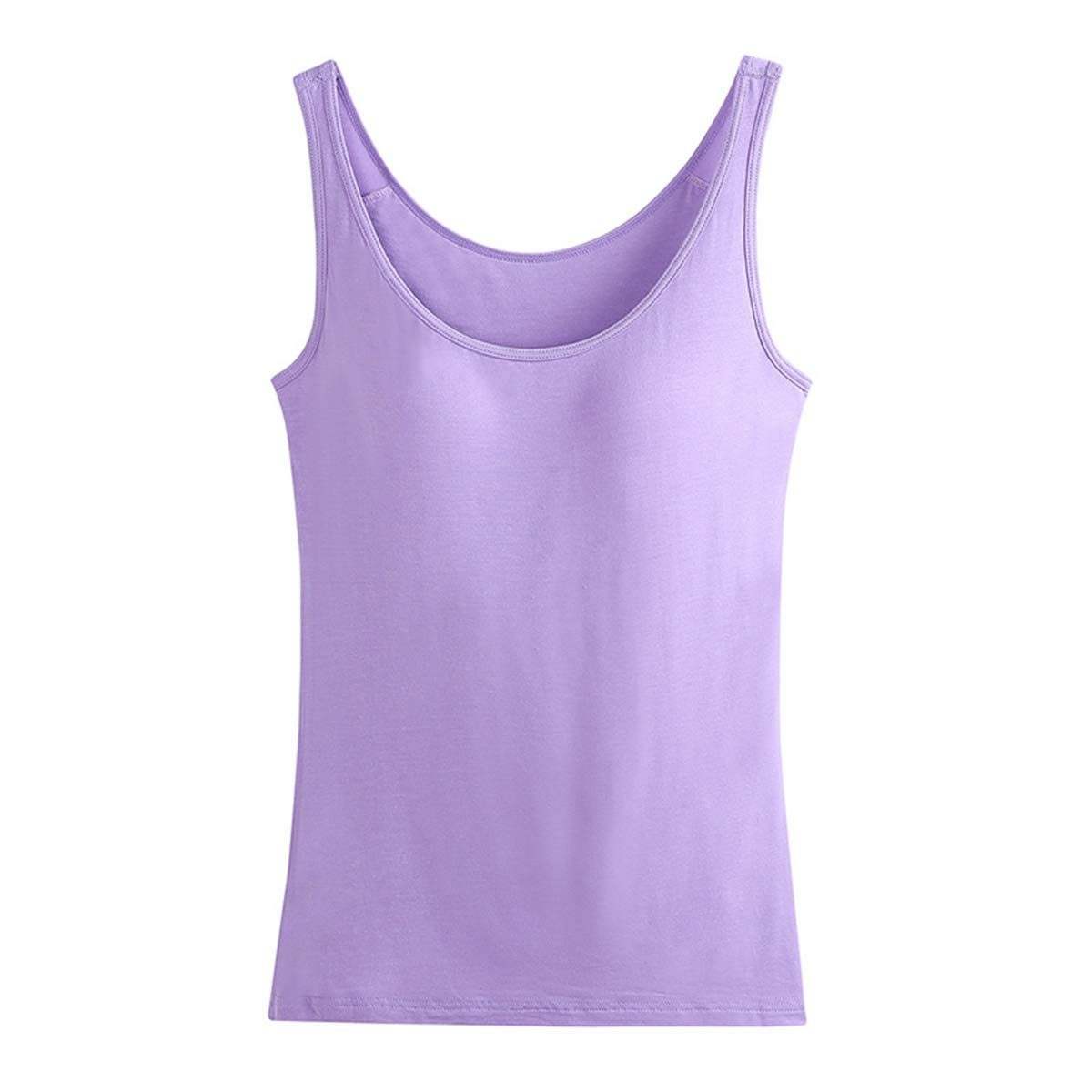d0b7008096280 Get Quotations · Oulinect Ladies Cotton Built-in Padded Bra Tank Top Active  Workout Camisoles Top for Women