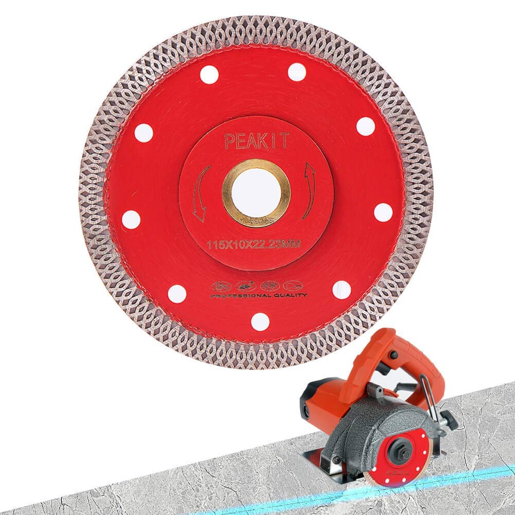 Peakit Super Thin Diamond Blade 4.5 Inch Tile Cutter Blade Cutting Disc for Porcelain Ceramic Granite fits Angle Grinder