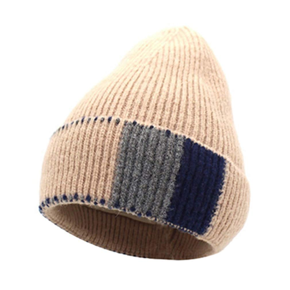 STARSTARTS and Winter Knit Hat Cap Plus Velvet Thick Hat Fashion Cap Unisex Hat