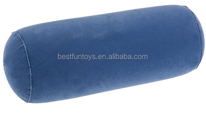 inflatable back support bolster pillow flocking yoga bolster pillow cylinder tube bolster pillow - Yoga Bolster