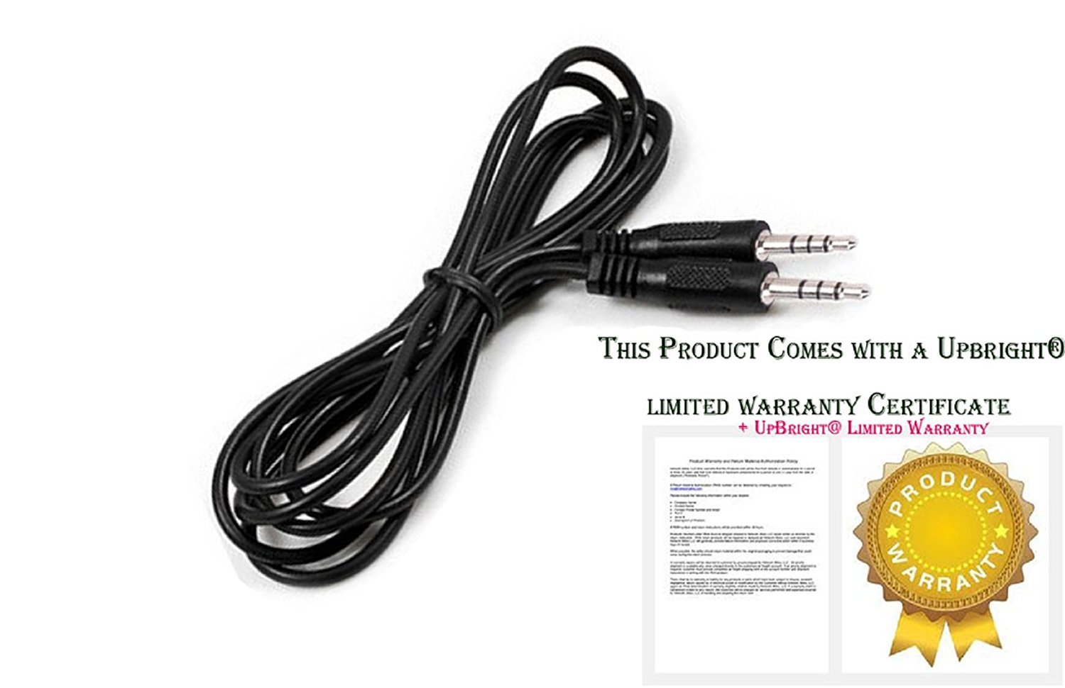 UpBright New AV Out to AUX In Cable Audio / Video Cable Cord For Dual Screen-to-Screen AV Audio Cable Magnavox MPD722D Portable DVD Player