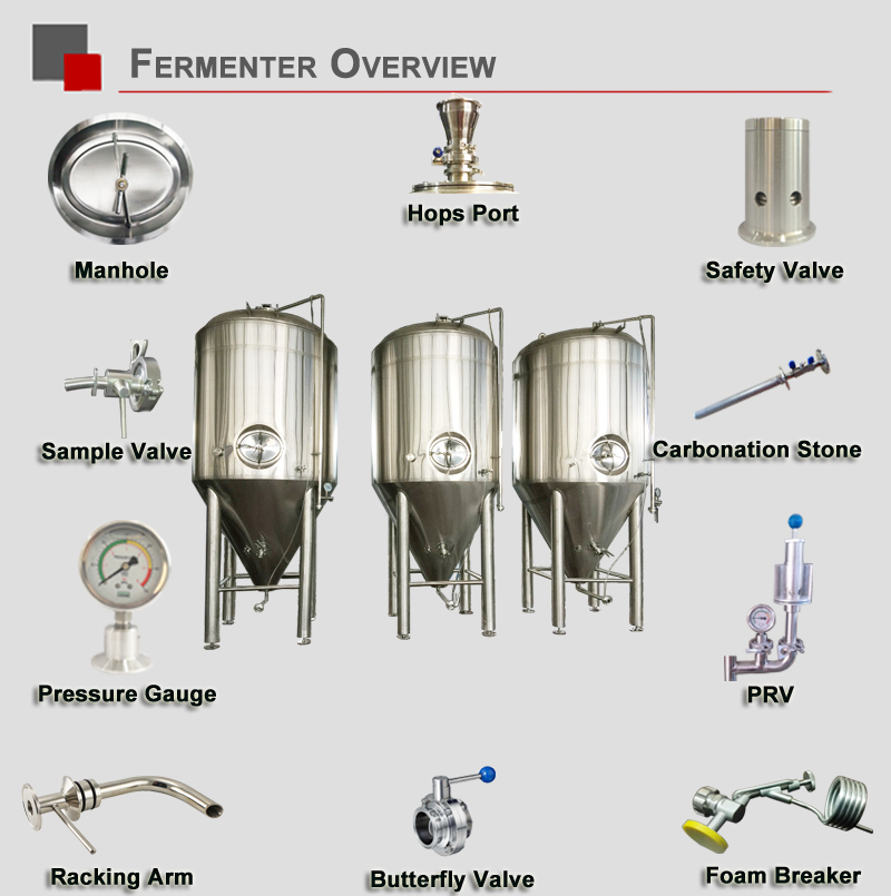 500L craft beer manufacturing brewing equipment