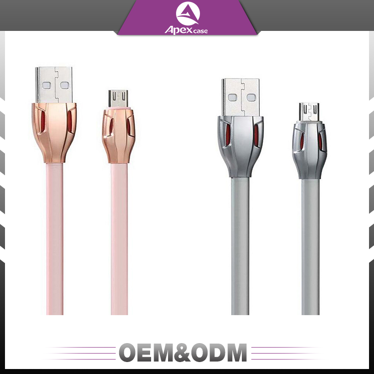 High quality fashion snake design flat usb 2.0 data charger cable for Andriod