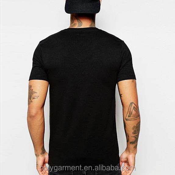 create your own brand clothing v neck black plain customized t-shirts