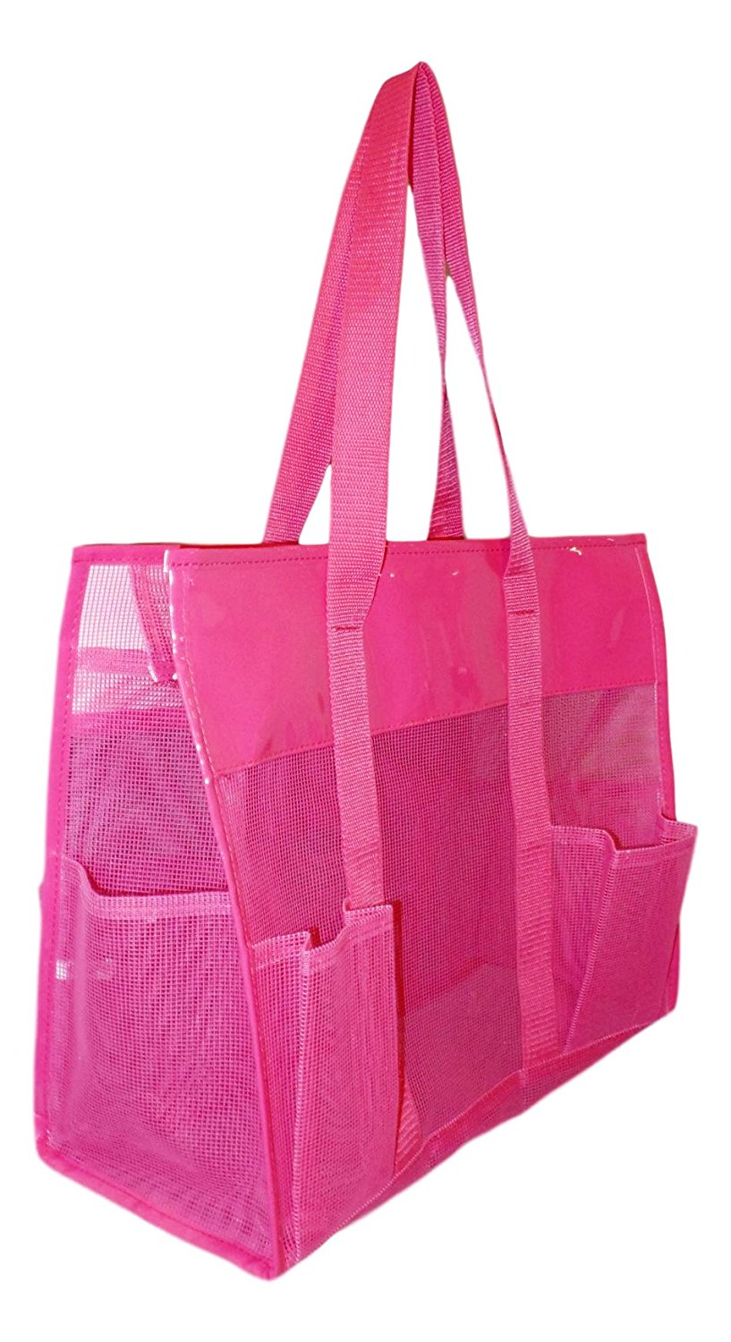 Get Quotations · Waterproof Mesh Shopper Utility Beach Bag Zipper  Organizing Tote cf7afae983aec