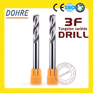 DOHRE 3 flutes high speed internal cooling solid carbide drill bits
