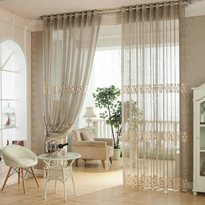 d coration salon rideau. Black Bedroom Furniture Sets. Home Design Ideas
