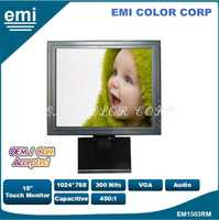 15 inch Capacitive 1024*768 Touch Screen monitor an be widely used in the POS ,VOD System