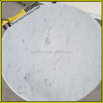 Hotel Restaurant 24u0026quot; Round Bianco Carrara Marble Table Top